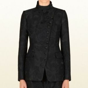 GUCCI Embroidered Asymmetric Button Blazer 38